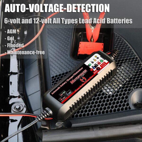 MOTOPOWER MP00207 Mantenedor de Cargador de batería Inteligente