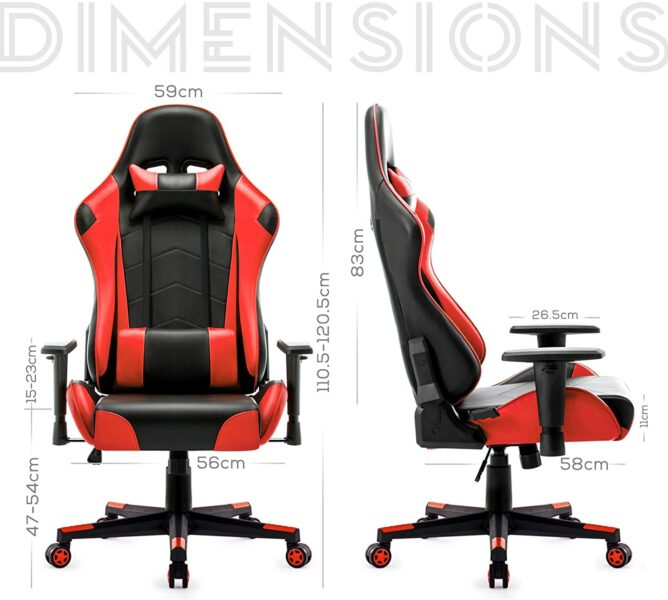 silla gaming de oficina barata- racing