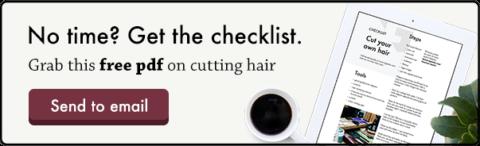 lista de comprobación del corte de pelo propio