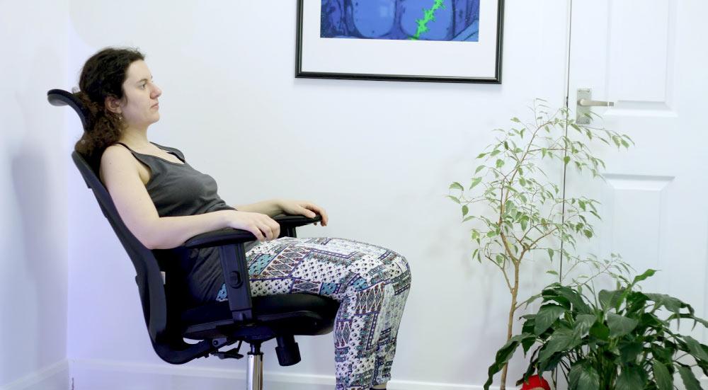 Inclinación del respaldo de la silla de oficina Sihoo M18